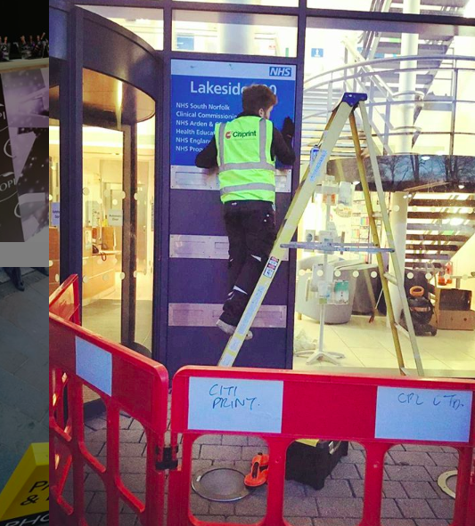 Exhibition Stand Fitter Jobs London : Sign installation services same day vinyl retail and events