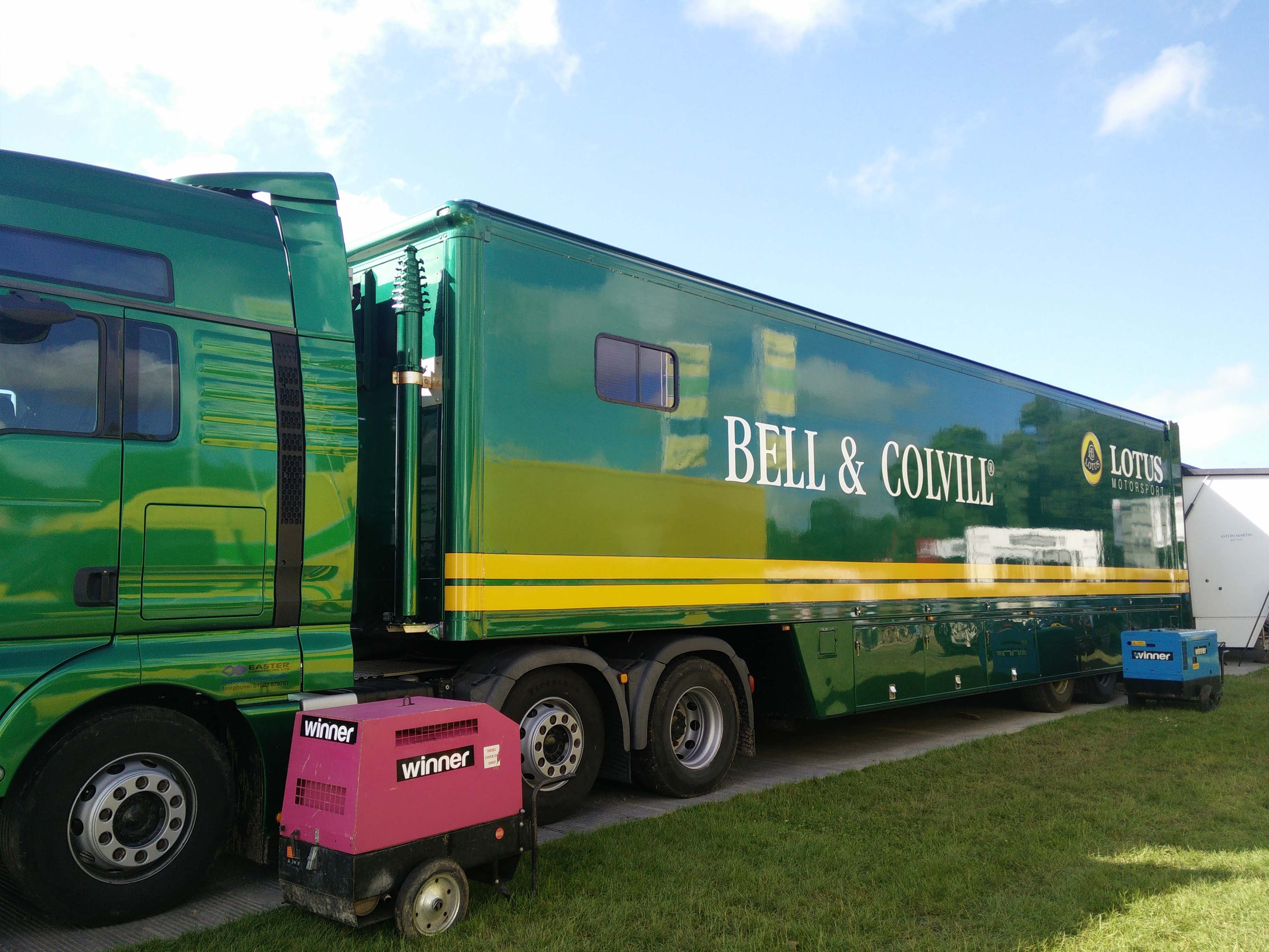 Trailer Branding for Lotus at Goodwood FOS