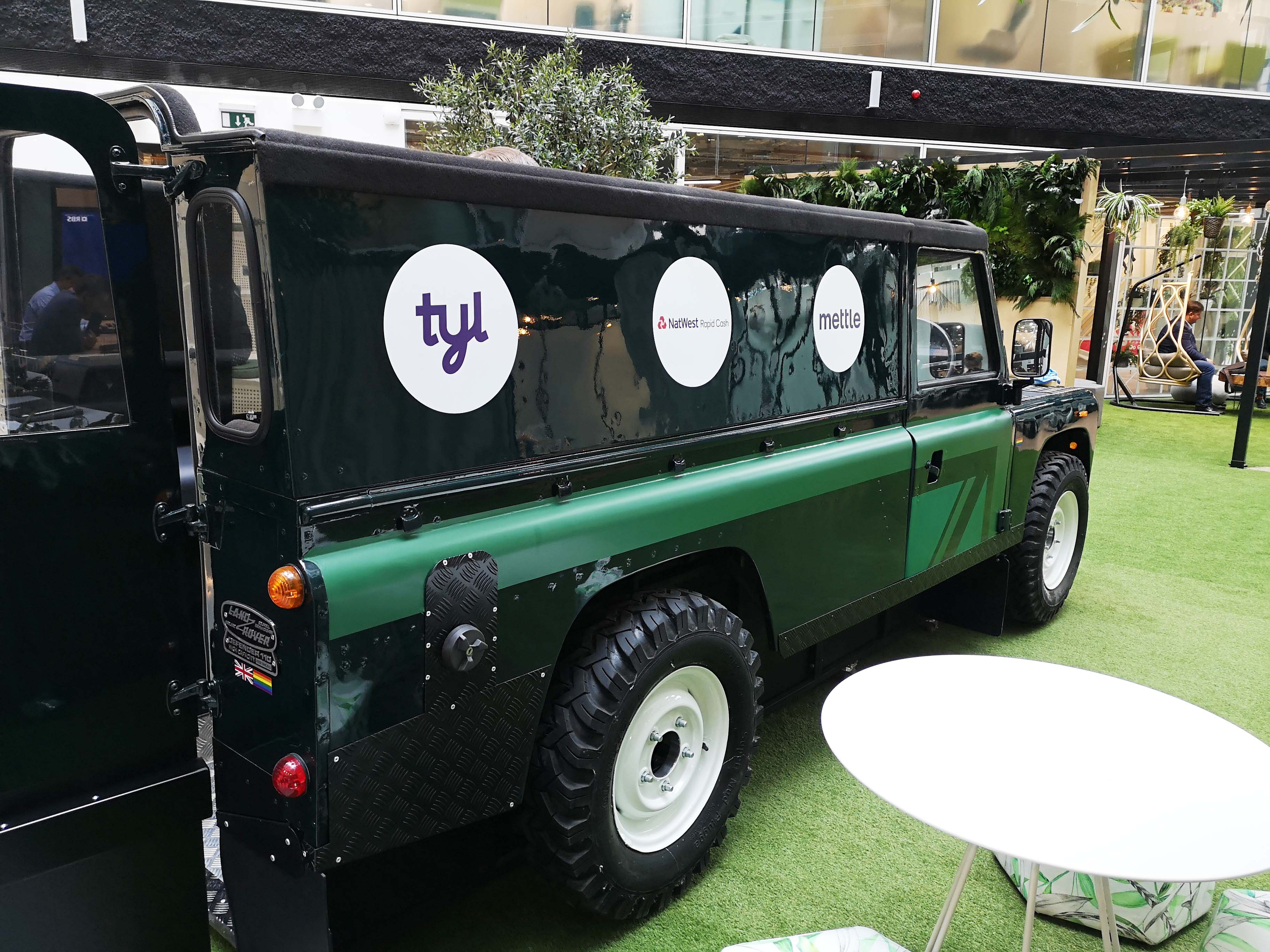 Land Rover Branding at Natwest London