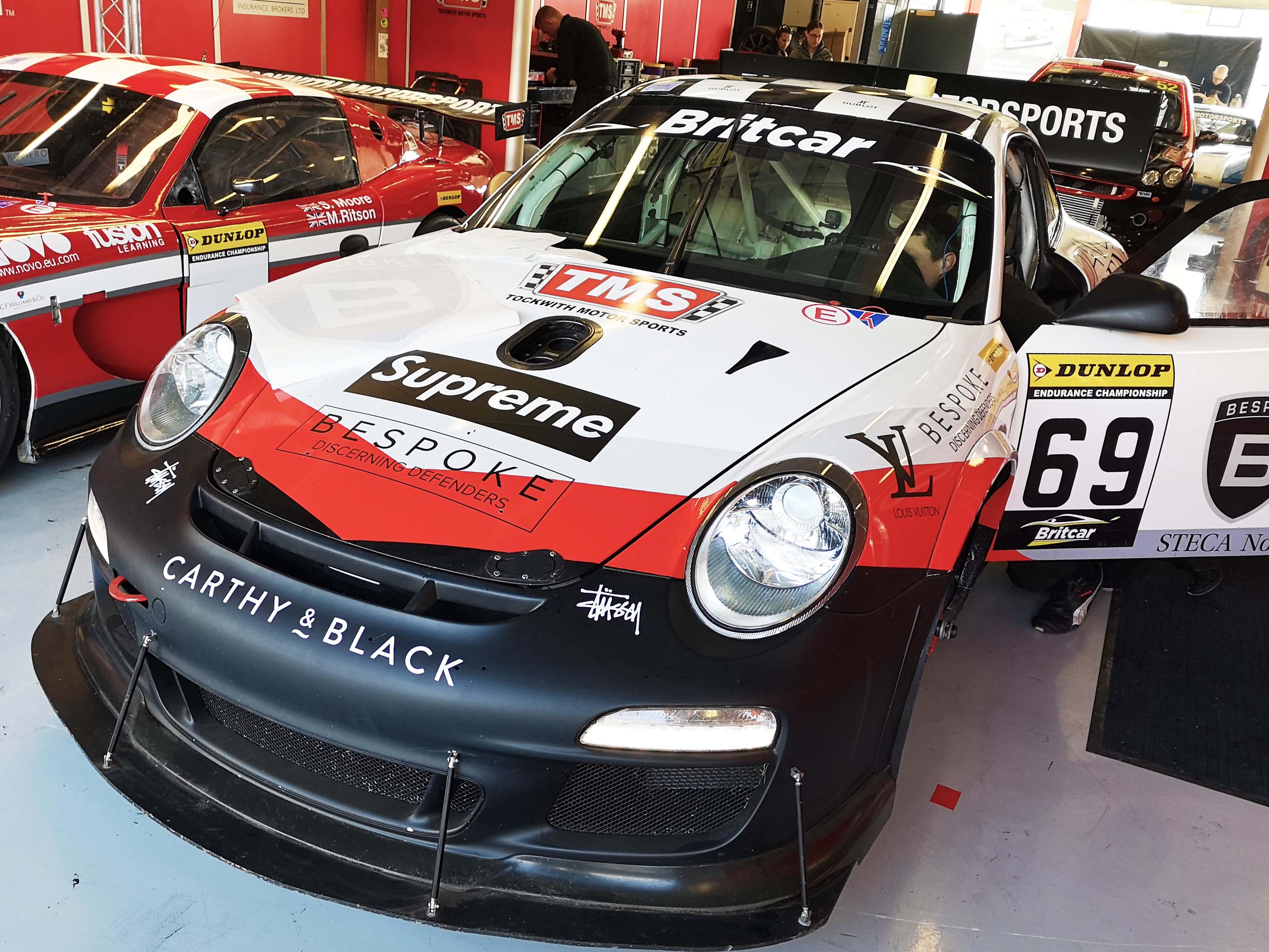 Porsche Graphics installed at Silverstone Britcar Cup